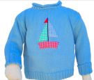 SAILBOAT MOTIF SWEATER